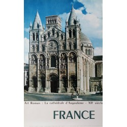 1960s France, Cathedral of Angouléme - Original Vintage Poster
