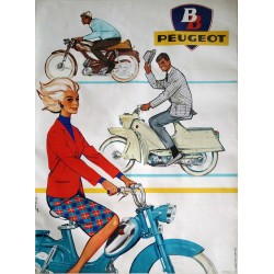 1950s Peugeot Advertisement by Couronne I - Original Vintage Poster