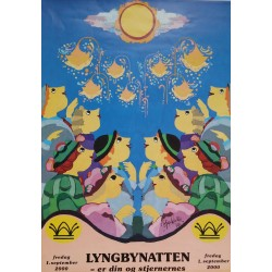 2000 Culture Night, Lyngbynatten - Original Vintage Poster