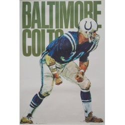1968 Baltimore Colts American Football Poster - Original Vintage Poster