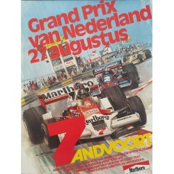 1978 Grand Prix of the Zandvoort - Netherlands Formula 1 - Original Vintage Poster