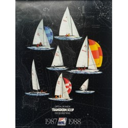 1988 US Sailing Team Official Poster (Black Edition) - Original Vintage Poster