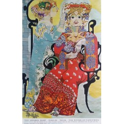 1972 The Wiinblad Tapestries - The Arabian Nights (First Theme) - Original Vintage Poster