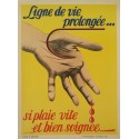 1958 French SNCF Safety Poster - Original Vintage Poster