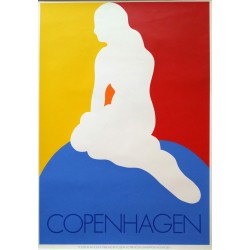 1968 Copenhagen Mermaid by Antoni - Original Vintage Poster