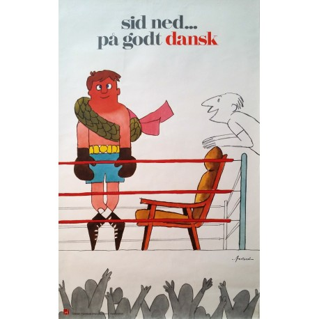 1970s Danish Furniture Quality Control by Antoni (Queen) - Original Vintage Poster