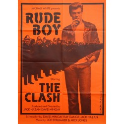 "1980 ""Rude Boy"" starring ""The Clash"" (red version) - Original Vintage Poster"