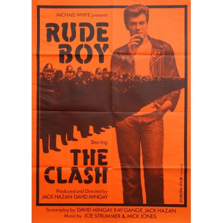 "1980 ""Rude Boy"" starring ""The Clash"" (yellow version) - Original Vintage Poster"