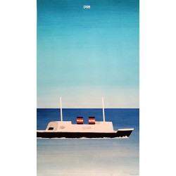 1979 Danish State Railways by Helge Refn - Original Vintage Poster