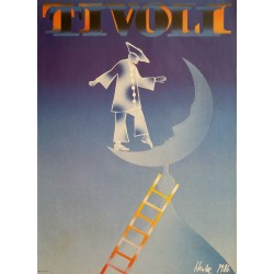 1986 Tivoli Amusement Park by Peter Hentze - Original Vintage Poster