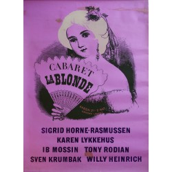 "1940s Cabaret ""La Blonde"" in Tivoli (Purple Version) - Original Vintage Poster"