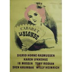 "1940s Cabaret ""La Blonde"" in Tivoli (Yellow Version) - Original Vintage Poster"