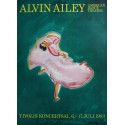 1983 Alvin Ailey's American Dance Theater in Tivoli. SIGNED by Hans Voigt Steffensen - Original Vintage Poster