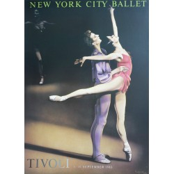 1983 New York City Ballet in Tivoli - Original Vintage Poster