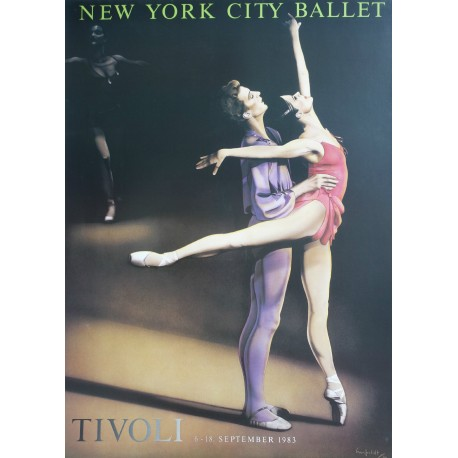 1983 Alvin Ailey's American Dance Theater in Tivoli - Original Vintage Poster