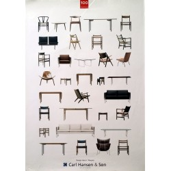 1908-2008 Hans J. Wegner Furniture - Original Vintage Poster