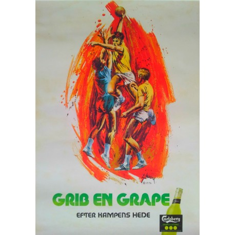1976 Carlsberg Grape (Handball) - Original Vintage Poster