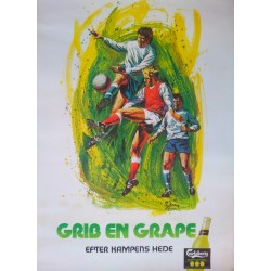1976 Carlsberg Grape (Football/Soccer) by Harry Schaare - Original Vintage Poster