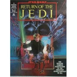 "1983 Star Wars ""Return of the Jedi"" Movie Poster by Sienkiewicz - Original Vintage Poster"