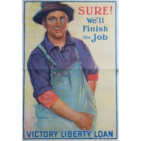 1918 American WWI Victory Loans Campaign poster - Original Vintage Poster
