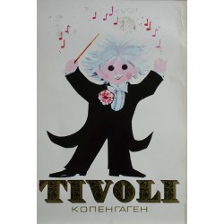 1972 Tivoli Gardens by Richardt Branderup (3rd version) - Original Vintage Poster