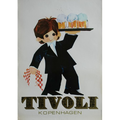 1972 Tivoli Gardens by Richardt Branderup (4th version) - Original Vintage Poster