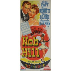 1945 Nob Hill Movie Poster - Original Vintage Poster
