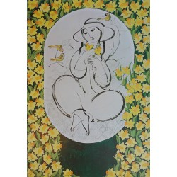 1980 Wiinblad Nature Girl - Original Vintage Poster