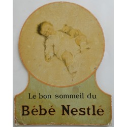 1910s Nestlé Advertisement - Original Vintage Cardboard Advertisement