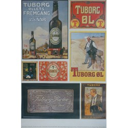 1970s Tuborg Beer Advertisement I - collection of old Tuborg Enamel Signs and Advertisement - Original Vintage Poster