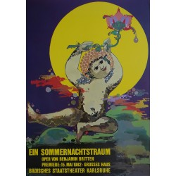 1982 Wiinblad A Midsummer Night's Dream - Original Vintage Poster