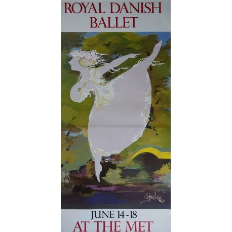 1988 Wiinblad Royal Danish Ballet (HUGE Version) - Original Vintage Poster