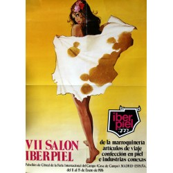 1976 - Spanish Fur Advertisement - Iberpiel - Original Vintage Poster