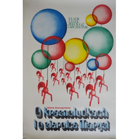 """1979 Polish Stage Play: """"Orphan Mary and the Dwarfs"""" - Original Vintage Poster"""