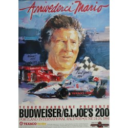 1994 Race in Portland feat. Mario Andretti - Original Vintage Poster