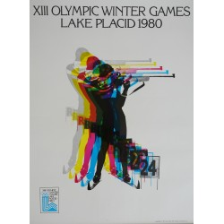 1980 Olympic Winter Games Lake Placid - Original Vintage Poster