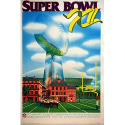 1978 Super Bowl in New Orleans- Original Vintage Poster