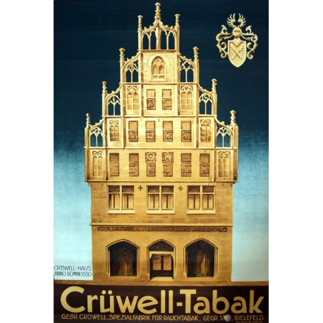 1950s Crüwell Tabak Original Vintage Poster