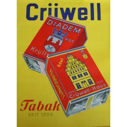 1950s Crüwell Tabak II - Original Vintage Poster