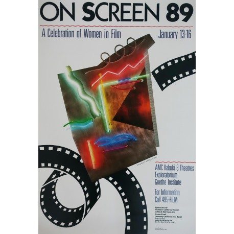 1989 On Screen Film Festival - Original Vintage Poster
