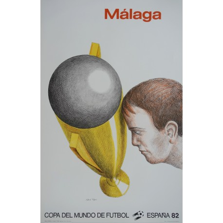 1982 World Cup Spain (Málaga) - Original Vintage Poster