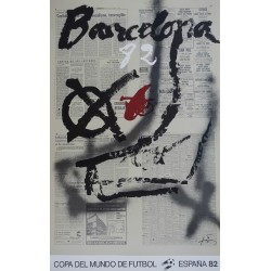 1982 World Cup Spain (Barcelona) - Original Vintage Poster