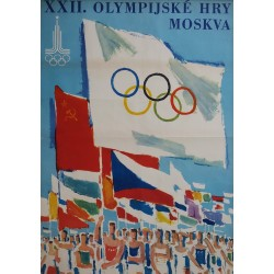 1980 Olympics Moscow (Czech edition) - Original Vintage Poster