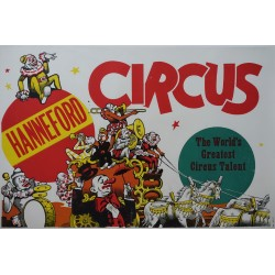 1950s Hanneford Circus Poster III - Original Vintage Poster
