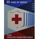 "1952 Red Cross American Junior ""35 Years"" - Original Vintage Poster"