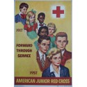 1956 Red Cross American Junior 40th anniversary - Original Vintage Poster