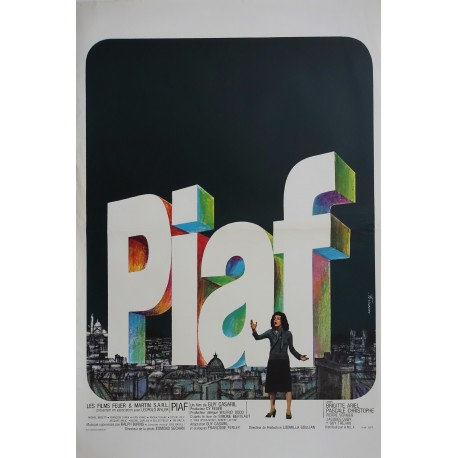 "1969 Piaf Movie Poster ""Piaf: The Early Years"" - Original Vintage Poster"