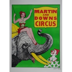 1970s Martin & Downs Circus - Original Vintage Poster