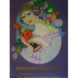 1984 Bjørn Wiinblad Artwork for The Nutcracker and the Royal Danish Ballet - Original Vintage Poster