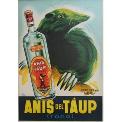 1945 Anis del Táup - Spanish Advertisement - Original Vintage Poster